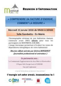"""Réunion d'information """" comprendre sa facture d'énergie, comment la réduire"""" @ Mairie - Salle Gambetta"""