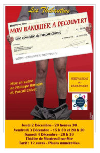 """Théâtre """"Mon banquier à découvert"""" @ Théâtre de Montreuil-sur-Mer"""