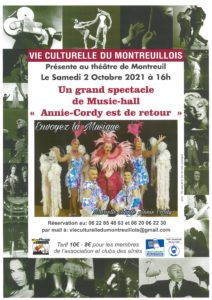 """Spectacle de Music-hall """"Annie Cordy est de retour"""" @ Théâtre de Montreuil-sur-Mer"""
