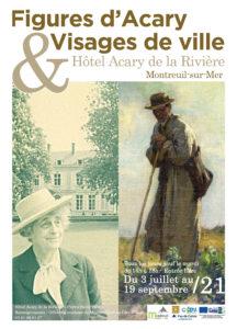 Exposition figures d'Acary, visages de ville @ hotel acary de la rivière